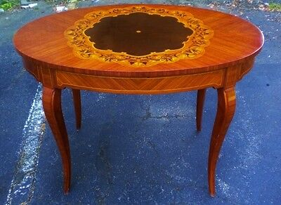 BEST Victorian style Center Hall table inlaid