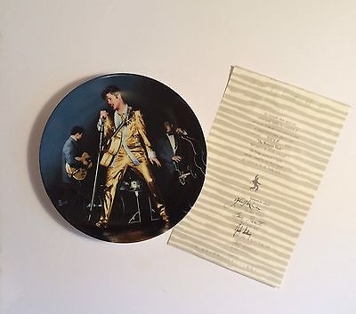 "Elvis Presley 'Looking at a Legend' Collectors Plate #3 ""The Memphis Flash"""
