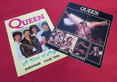 Queen - 2 x Tour Programmes - 80's - Very Collectable!