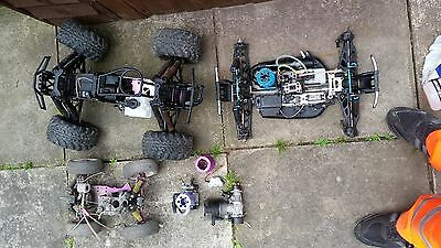 RC job lot engine parts/ rolling chassis