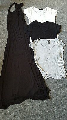 ladies mixed jersey dress and tshirts bundle size 10 Asos  and H&M