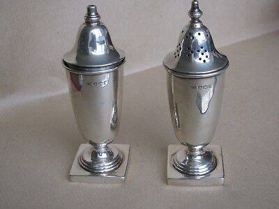 English Antique 1948 Sheffield HallMarked  Solid Silver pepperettes