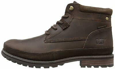 ** New & Boxed ** Mens Leather Caterpillar CAT Oatman Dark Brown Boots Size 9