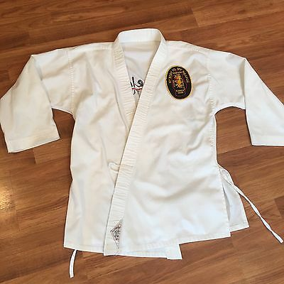 Martial Arts Robe Poekoelan Tjimindie Tulen Karate My body is my Weapon Youth L