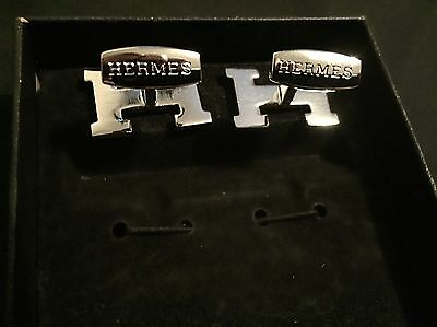 Men's Hermes Silver Cufflinks - New Without Original Packaging