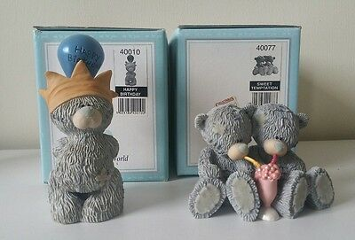 ME TO YOU BEARS FIGURINES BOXED sweet temptation and happy birthday RETIRED
