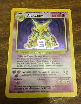 Alakazam Pokemon Collectors Card **RARE** Excellent Condition