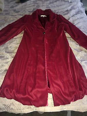 Stunning Girls Age 9-10 Autograph Red Velvet Coat