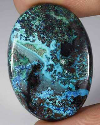 67.85Cts NATURAL AZURITE CHRYSOCOLA OVAL CABOCHON LOOSE GEMSTONE AFRICA