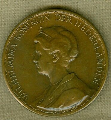 1923 Dutch Medal for Queen Wilhelmina, 25th Anniversary of Her Reign