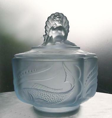 Walther & Sohne Blue Glass NYMPHEN small trinket pot
