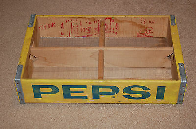 Vintage Pepsi Cola Soda Advertising Wooden Crate