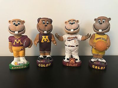 University of Minnesota Golden Gopher Goldy Mascot SGA Bobblehead Bobble Lot