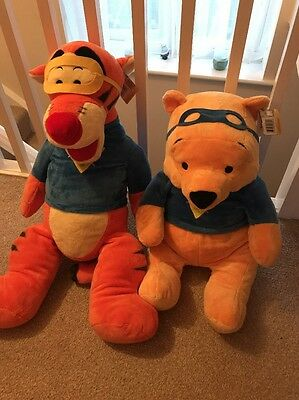Large Winnie The Pooh And Tigger Plush Teddy
