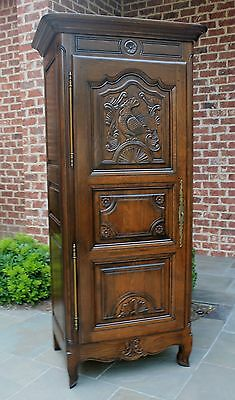 Antique French Country Oak Bonnetiere Wardrobe ROOSTER Amoire Cabinet Jean Laick