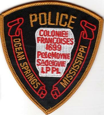 Ocean Springs Police Patch Mississippi MS NEW!!