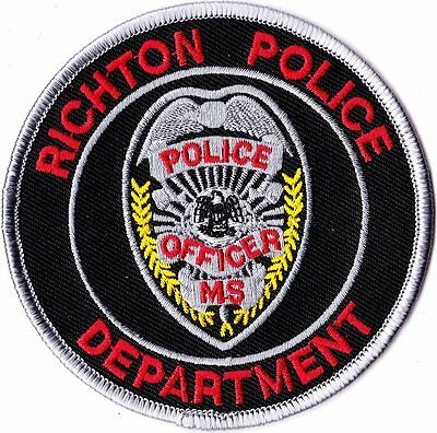 Richton Police Patch Mississippi MS NEW!!