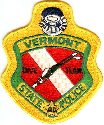 Vermont State Police Dive Team Police Patch Vermont VT NEW RARE!!