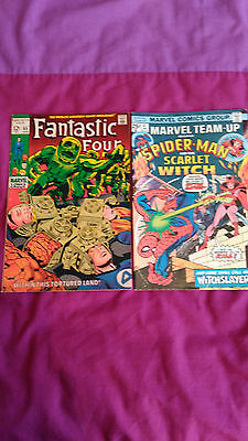 Fantastic Four #85 1St Haupman, Kirby Art. Marvel Team Up 41, Scarlet Witch Fn+