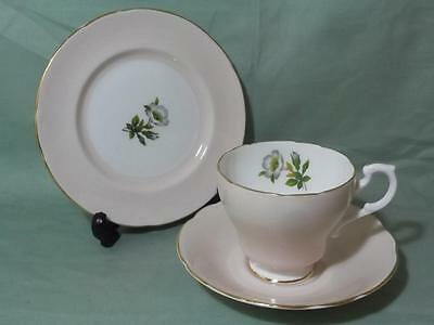 Vintage Royal Standard Harlequin Trio Tea Cup, Saucer & Side Plate Pastel Peach