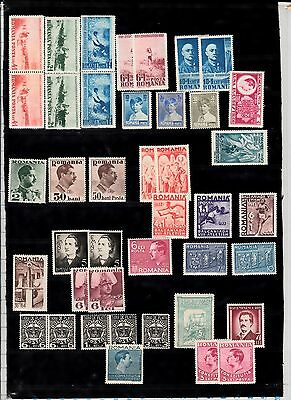 ROMANIA selection of mnh stamps
