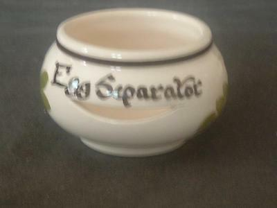 Babbacombe Pottery Hand Decorated Egg Separator Philip Laureston