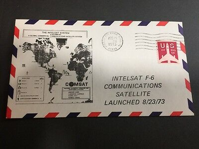 INTELSAT F-6 Satellite Launch 1973 Cachet Cover USA - Coil Stamp