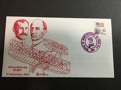 TUDOR HOUSE Cover 1982 - Air Force Base Wilbur & Orville Wright Cachet