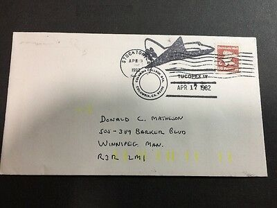 TUCOPEX IV 1982 Cover - Stockton, CA USA - Columbia Spacecraft Stamp