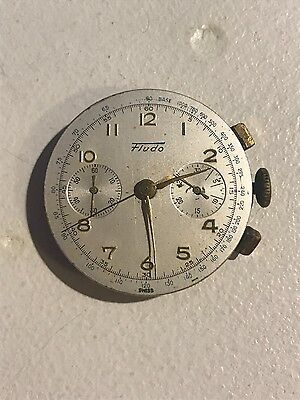 Vintage Fludo 17 jewels chronograph watch movement & Dial!!!