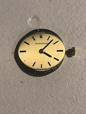 Vintage Jaeger LeCoultre 818/2 manual wind watch movement and dial!!