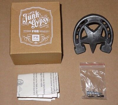1 NIB Pottery Barn PB Teen Junk Gypsy Wall Hook Metal Horse Shoe Horseshoe, NEW