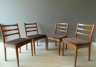 4 Vintage mid century 1960s ladder back dining chairs London Delivery £25