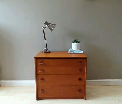 Vintage mid century 1960s STAG John Sylvia Reid teak chest of drawers DELIVERY