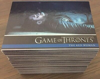 Game Of Thrones Season 6 Holo Foil Parallel Set 100 Base Cards