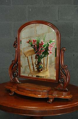Stunning Antique Victorian Mahogany Dressing Table Mirror