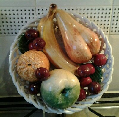 Decorative porcelain fruit bowl