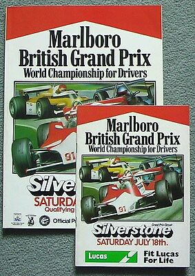 British Grand Prix Formula 1 1981 Silverstone Programme and Race Card/Booklet