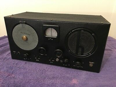Serviced Hallicrafters Sky Buddy Tube Shortwave Ham Radio Receiver