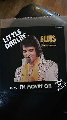 "ELVIS, MINT, LITTLE DARLIN' / I'M MOVIN' ON 7"" vinyl 45 (Canadian GOLD)"