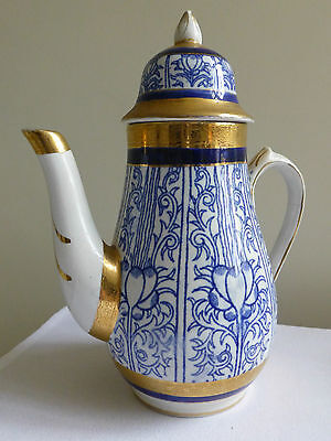 A.G.Harley Jones Wilton Lily design Coffee pot and 4 x saucers