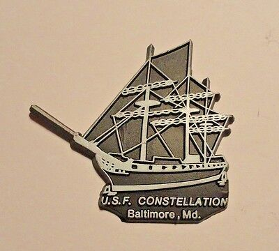 U.s.f. Constellation Baltimore Maryland Collectible Rubber Magnet