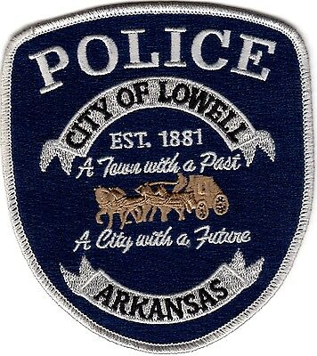 City of Lowell Police Patch Arkansas AR NEW!!