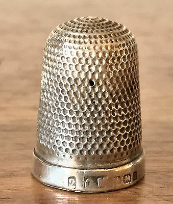 Antique 1935/36 Birmingham Hallmark 4.2g Sterling Silver Thimble Marked GM or CM