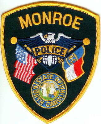 Monroe Police Patch North Carolina NC NEW