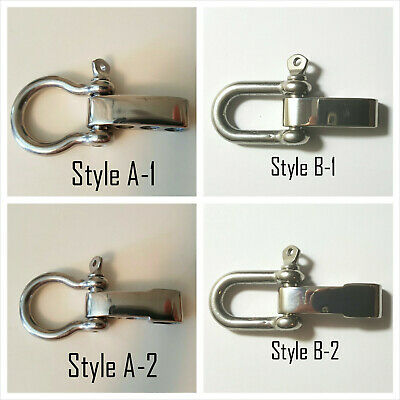 5mm Marine Grade Stainless Steel bow Shackle w/ Adjustable Bar Paracord Bracelet