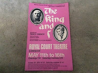 Very Rare The King And I Royal Court Theatre Cardboard Poster 1970?