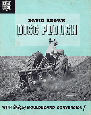 David Brown Tractor Disc Plough With Mouldboard Conversion Brochure Leaflet