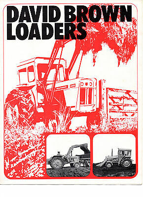 David Brown Tractor Loaders Brochure Leaflet