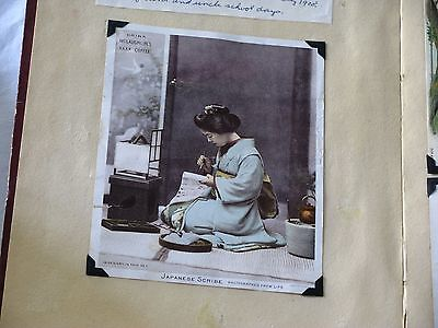 Vintage McLaughlin's coffee Advertising Card Japanese Scribe 1880s